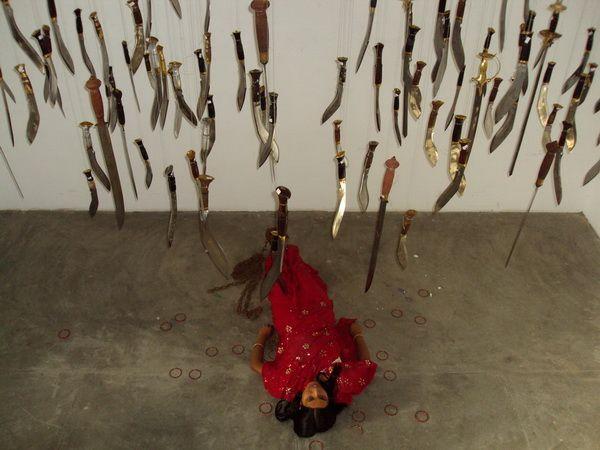 suspended knife installation