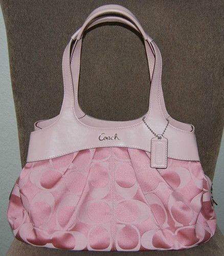 Coach Pink Canvas Tote NEED THIS!!!!