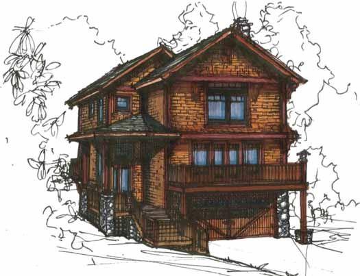 Best DESIGN House Plans Images On Pinterest Architecture - Craftsman style narrow house plans