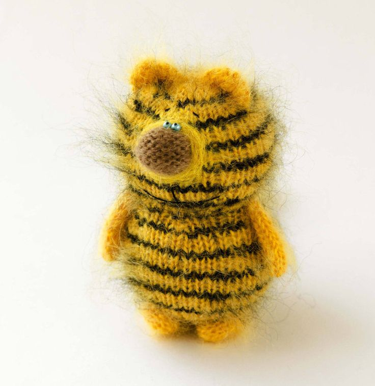 Tiger stuffed toy Hand-Knitted tiger Amigurumi Toy Tiger Miniature toy Wool tiger Stuffed animal tiger plush tiger striped cat Easter decor by MiracleStore on Etsy