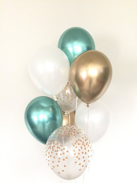 Mint Party Balloons Mint Balloons Mint Party Decorations Mint Baby Shower Decorations Mint Birthday Decorations First Birthday
