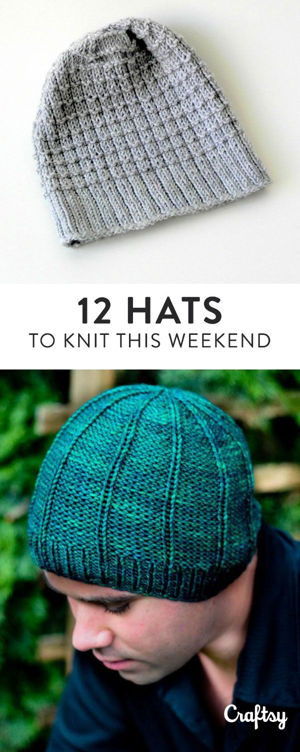 12 quick winter hat patterns to knit this weekend!