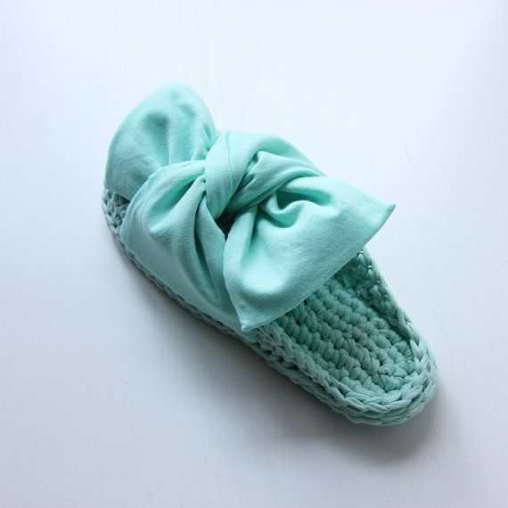 Bow muli ッ menta donna scarpe ッ donna dono ッ di Sevirikamania