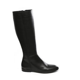 Manfield zwarte leren laarzen