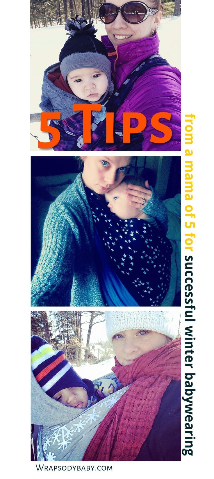 Top 5 Tips for Winter Babywearing || Wow! We are in the midst of an epic storm cycle — winter babywearing with my 2-year-old has become imperative to keep him from getting lost in the snowdrifts! With the temperatures plummeting into single digits, I've had to pull out all my favorite winter babywearing tricks.: