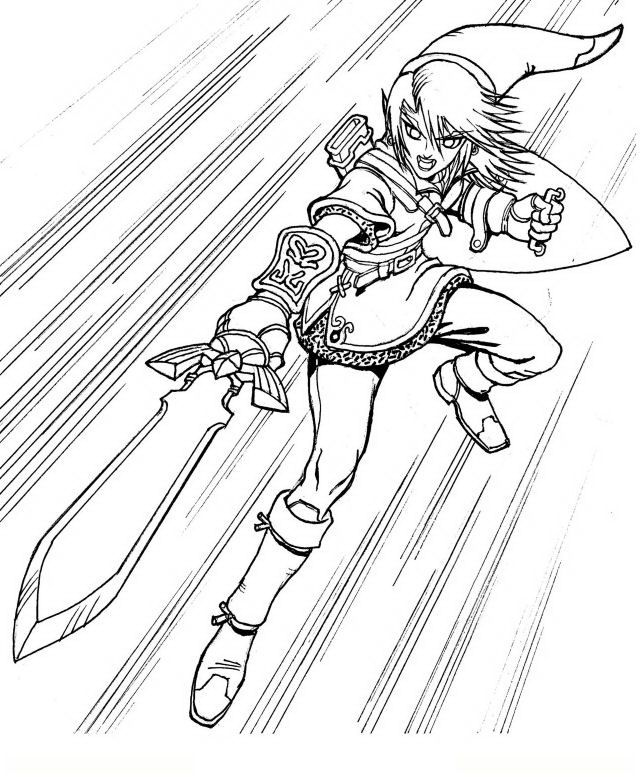 zelda skyward sword coloring pages - photo#27