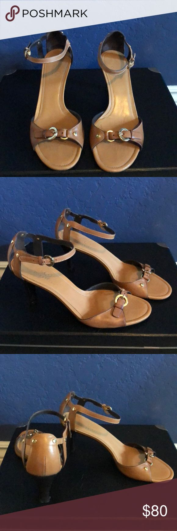 Cole Haan Pump with Straps, Camel Color Cole Haan Strappy Pump, Camel Color, New Cole Haan Shoes Heels