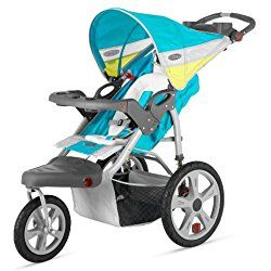 InStep Grand Safari Single Swivel Stroller, Blue/Yellow