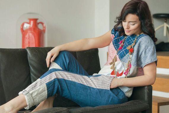 Linnen Chinohose pyjama linnen broek Pajama linnen broek