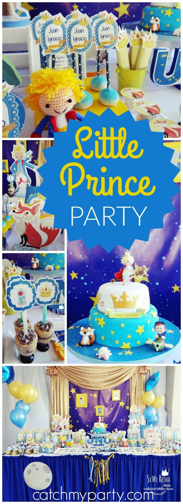 How sweet is this first birthday with a Little Prince theme? See more party ideas at CatchMyParty.com!