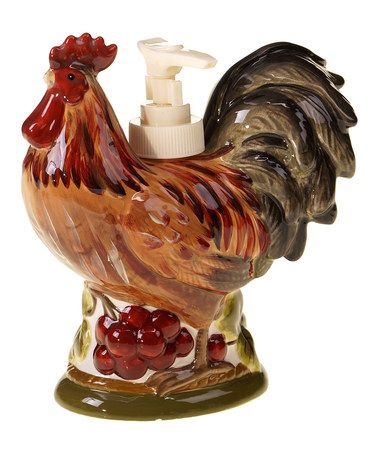 Another Great Find On #zulily! Rooster Soap Dispenser By Certified  International #zulilyfinds