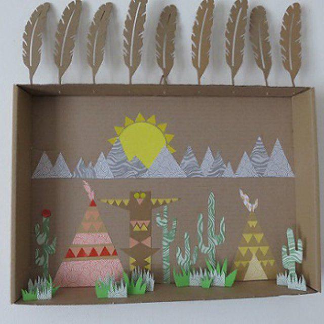 Décoration Indian spirit / Cactus & Tipi DIY