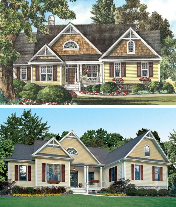 17 best images about rendering to reality on pinterest for Cedar shake home plans