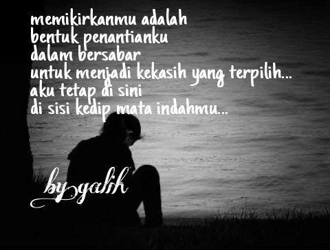Maafkan aku__ jika aku masih selalu mencintaimu