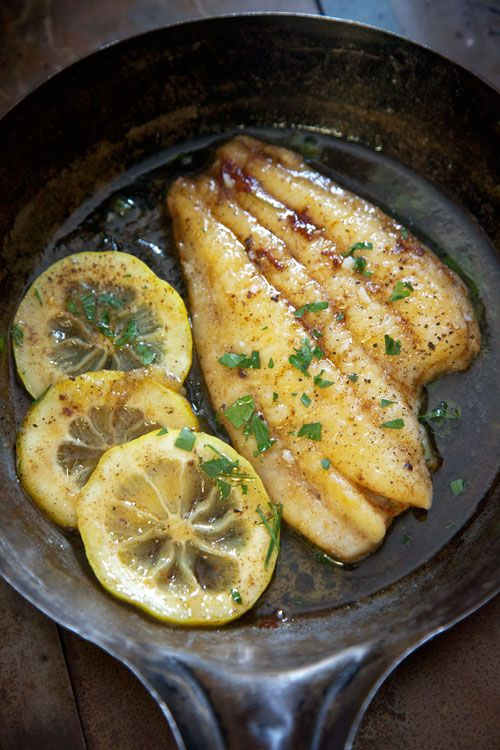 Sole Meuniere:  Dover sole is a remarkable fish—meaty and succulent, but with a delicate flavor. When it comes to cooking it, the simplest way is the best, as in this classic French preparation where butter and lemon subtly enhance the taste and texture.