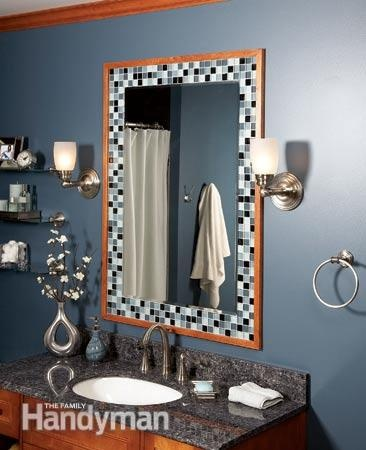 17 Best Ideas About Tile Mirror Frames On Pinterest Tile Mirror Decorative Bathroom Mirrors