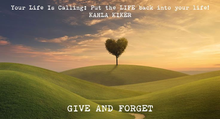"""Your Life Is Calling: Put the LIFE back into your life! #SelfHelpBook GIVE AND FORGET """"There are a lot of cosmic theories in this world. The one that RJ taught his mom about was the law of attraction. My definition of the Law of Attraction posits that our positive or negative energies attract positive or negative energies back to us. Part of the Law of Attraction is giving and receiving. The Universe gives you back what you give others in return."""""""