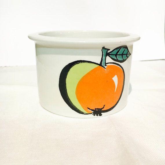 Vintage Arabia Finland Pomona Apple jam jar by FinnishVintageOasis