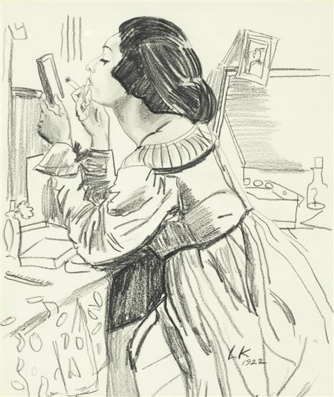 In the dressing room - Dame Laura Knight