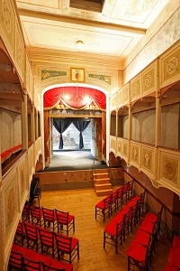 TEATRINO:  The interior view of the smallest public teather in the world ( Lucca surrounds)