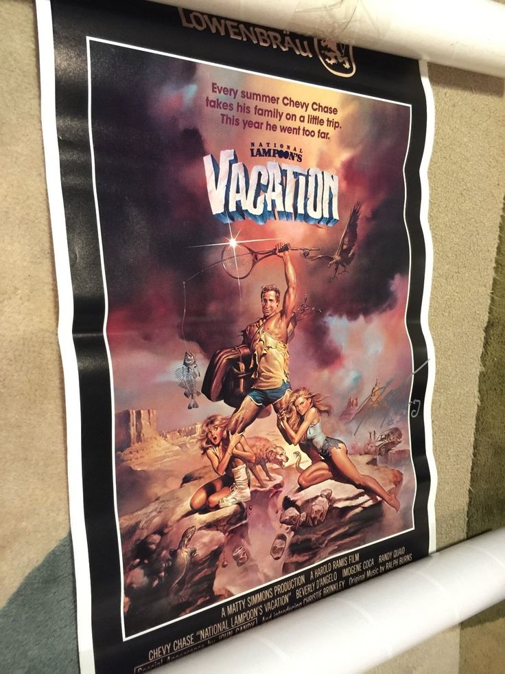 National Lampoon's Vacation poster signed by Dana Baron