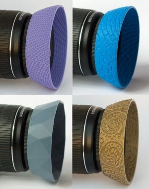 3D printed lens hoods offer stylish lens protection