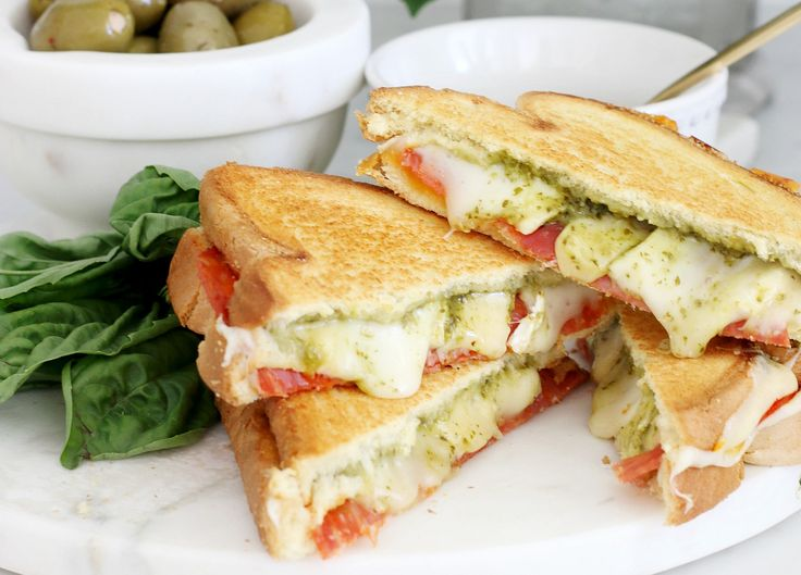 Italian Salami Four Cheese Pesto Grilled Sandwich - Absolute bliss between two slices of bread!