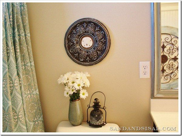 Fit Crafty Stylish And Happy Guest Bathroom Makeover: 31 Best Ceiling Medallion Art Images On Pinterest