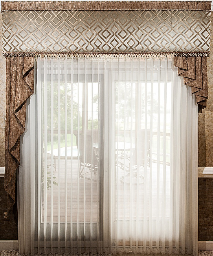 12 best cornices by unusual designs images on pinterest for Sheer drapes privacy