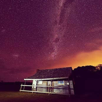 Tasmania's Narawntapu National Park at night