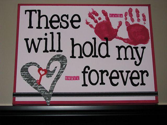 Handprint Canvas from Clean & Scentsible: Hands Prints, Valentines Ideas, Handprint Art, Valentine'S S, Valentines Day, Canvas, Valentinesday, Kids, Crafts