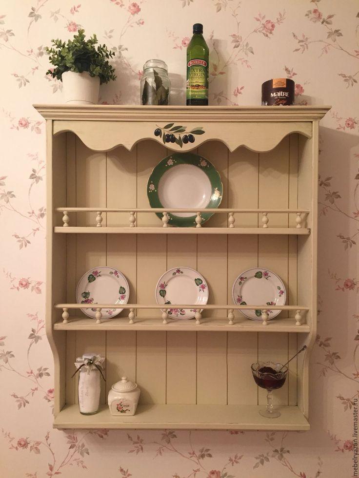 Купить Полочка ,, Оливковая,, - оливковый, полка, провас, винтаж, кухня, мебель на кухню, мебель в дом
