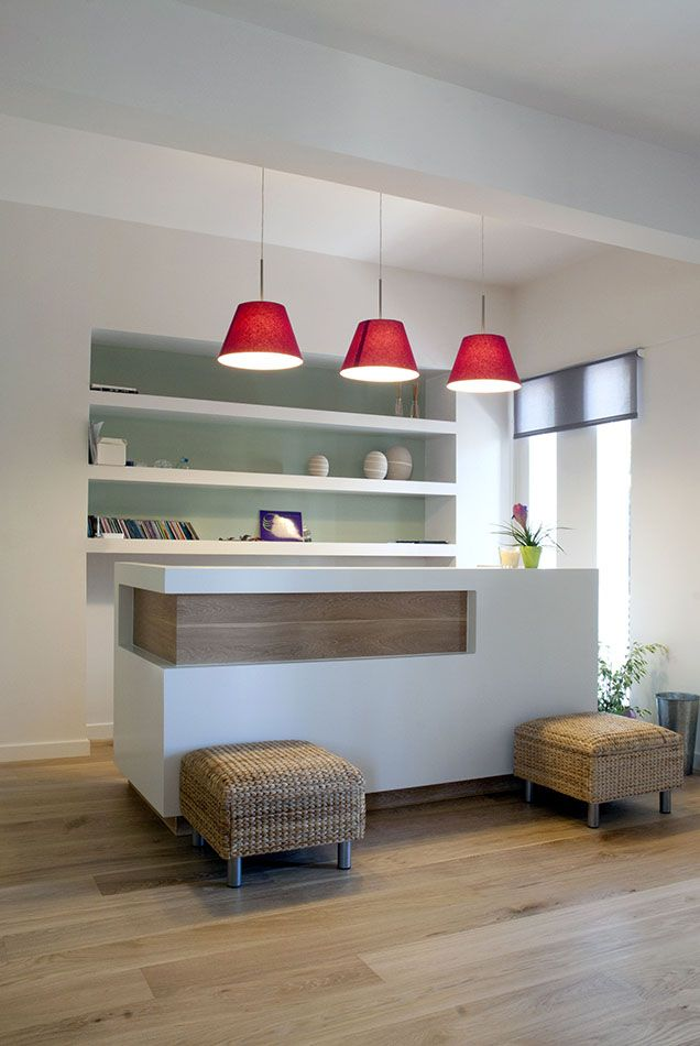 Like the idea of hanging lighting but since you arent going to need a reception area.. maybe kitchen/seating.. just an idea