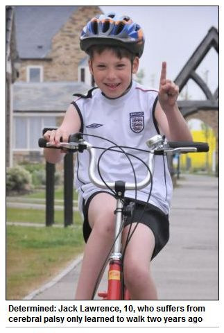 'Feel Good' Story of the Week: Boy with Cerebral Palsy Completes Charity Triathlon for Other Kids with CP!  -  Pinned by @PediaStaff – Please Visit http://ht.ly/63sNt for all our pediatric therapy pins