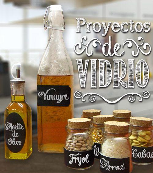 Botellas y frascos de vidrio decoraci n para el hogar for Decoracion de frascos de vidrio para cocina