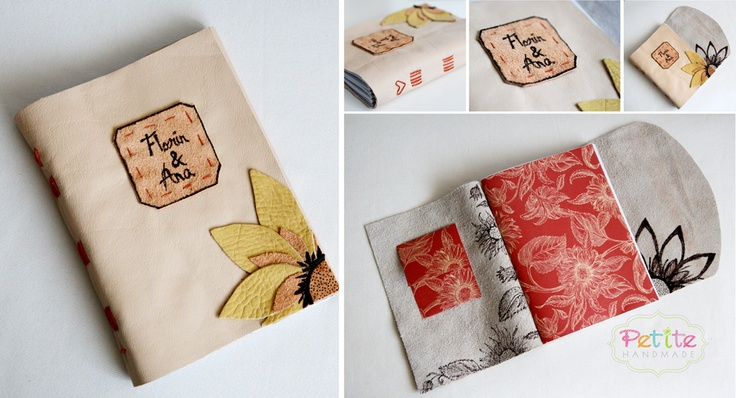 Jurnal de nunta din piele/Handmade Leather Wedding Journal