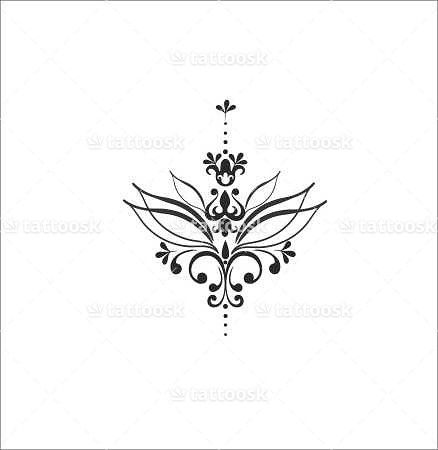 Small Lotus Flower Tattoo ❥❥❥ https://tattoosk.com/small-lotus-flower-tattoo