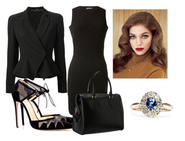 """Meeting with ministers"" by jumanaofpalestine ❤ liked on Polyvore featuring Bionda Castana, Alexander McQueen and Retrò"