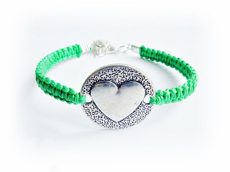 Makrame knot bracelet Friendship Bracelet Bridesmaid Gift Heart bracelet. Gift Ideals Back to School Cuff bracelet love bracelet Couple Gift by MadeByJoLis on Etsy