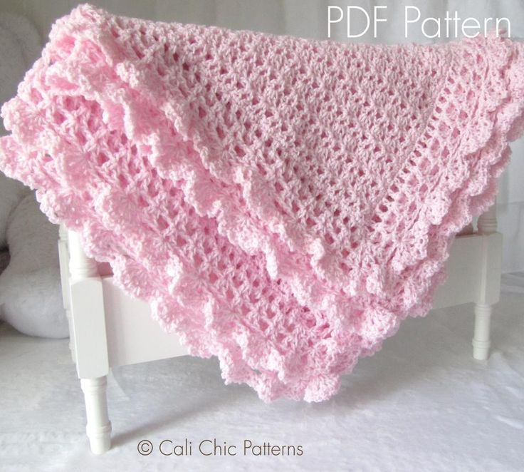 Baby Blanket ... by Kyoko-CCP | Crocheting Pattern - Looking for your next project? You're going to love Baby Blanket Pattern - Victorian #89 CCP by designer Kyoko-CCP. - via @Craftsy