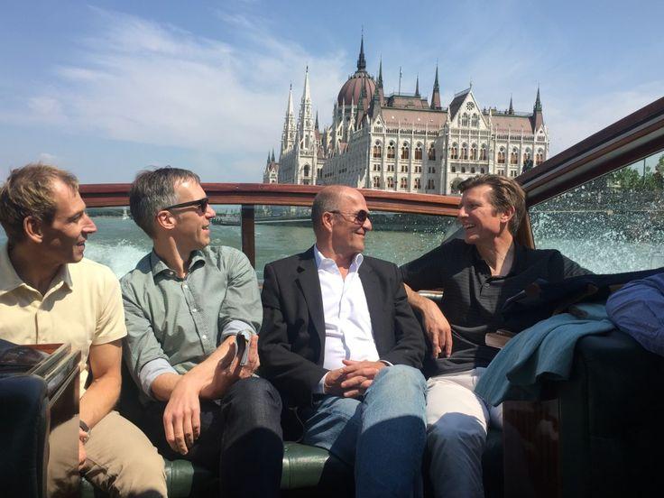 Swissmen in Budapest in our lovely speedboat