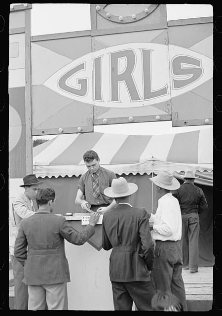 Ticket sellers, carnival, Brownsville, Texas (February 1942)