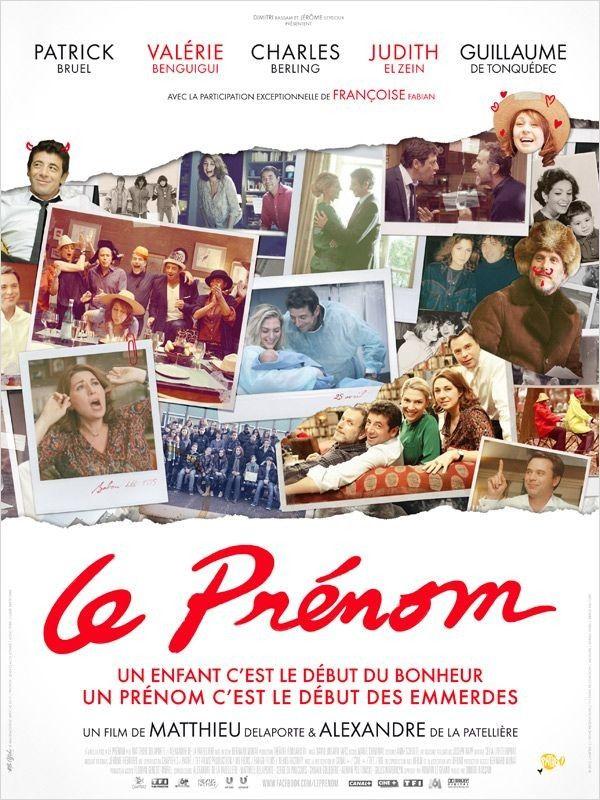 Le prénom : un film en huis clos français très bien joué, teinté d'une bonne humeur contagieuse et d'humours variés. Un très bon film avec malgré tout un peu d'action.