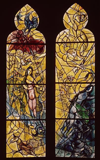 Adam and Eve expelled from Paradise (8), 1964 by Marc Chagall (1887-1985, Belarus)