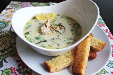 Куриный суп с грибами и пастой орзо