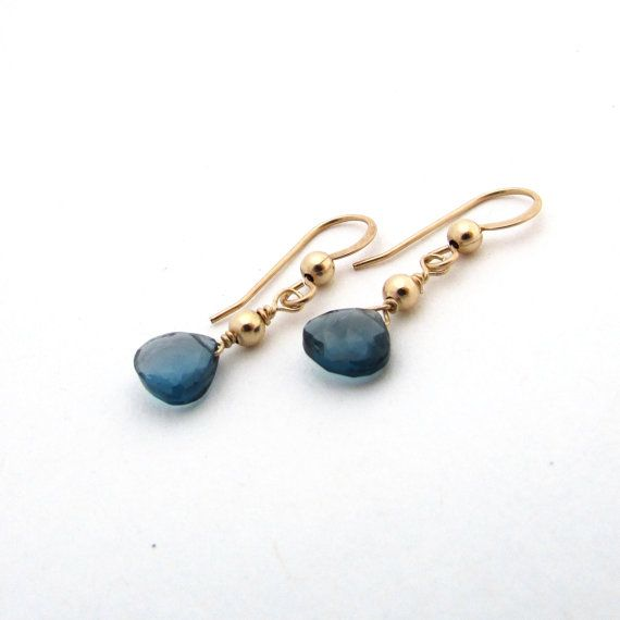 London blue topaz earrings blue gemstone earrings by FelisaJewelry, $50.00