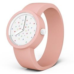 O clock Watch - Crystal White Mix Dial with Pink Strap. http://www.fullspotmarket.co.uk/product-p/ocf81-ocs15.htm