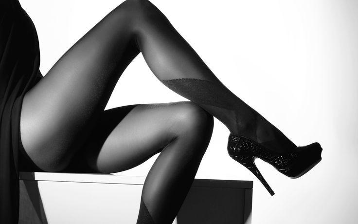 девушка, ножки, колготки, туфли, каблуки, фото, черно-белое