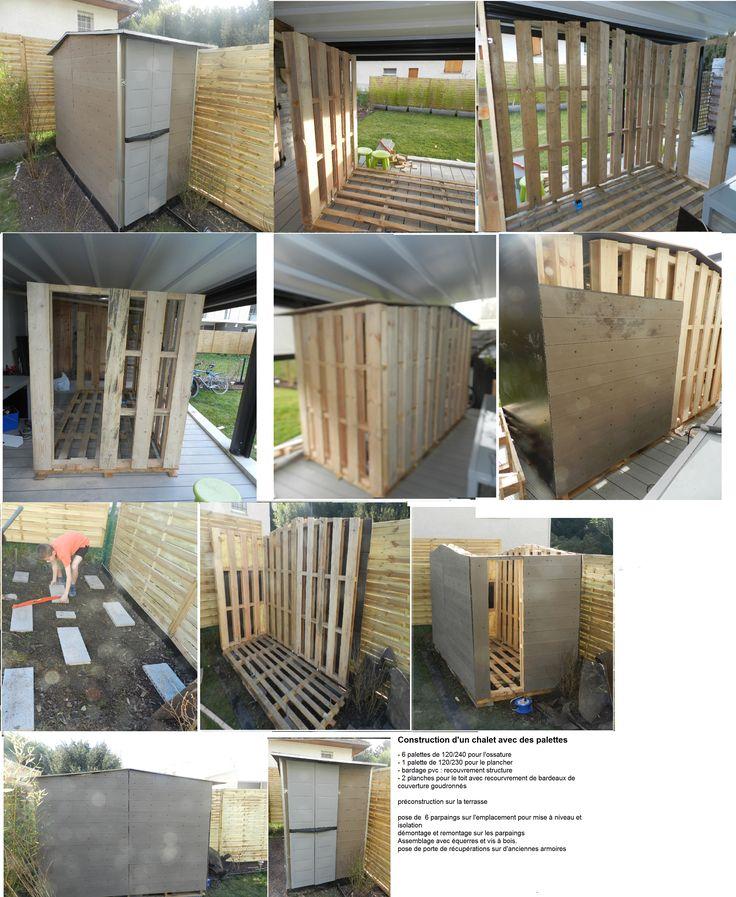 construction d 39 un abri de jardin avec des palettes abri de jardin abri de jardin bricolage. Black Bedroom Furniture Sets. Home Design Ideas