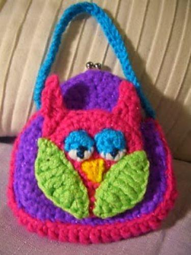Little Girl Purses ~ free pattern Crochet Kids Purses ...